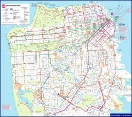Карта транспорта Сан-Франциско