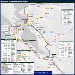 Схема метро Сан-Франциско и окрестностей