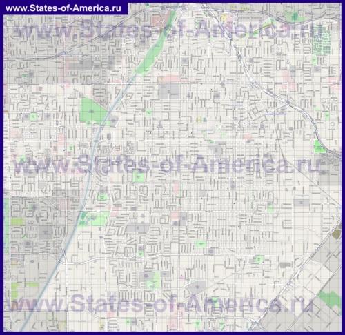 Подробная карта города Санта-Ана