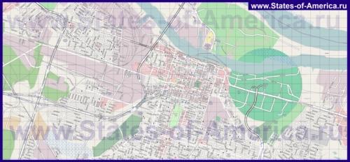 Подробная карта города Саванна