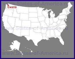 Сиэтл на карте США