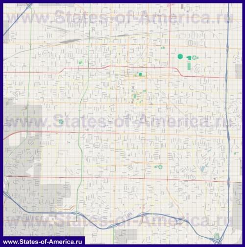 Подробная карта города Спрингфилд