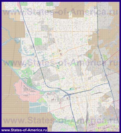 Подробная карта города Стоктон