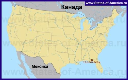 Таллахасси на карте США