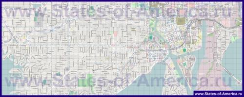 Подробная карта города Тампа