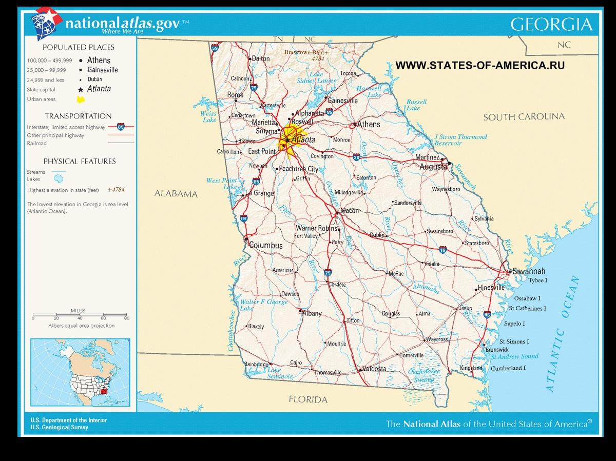 Карта дорог Айдахо