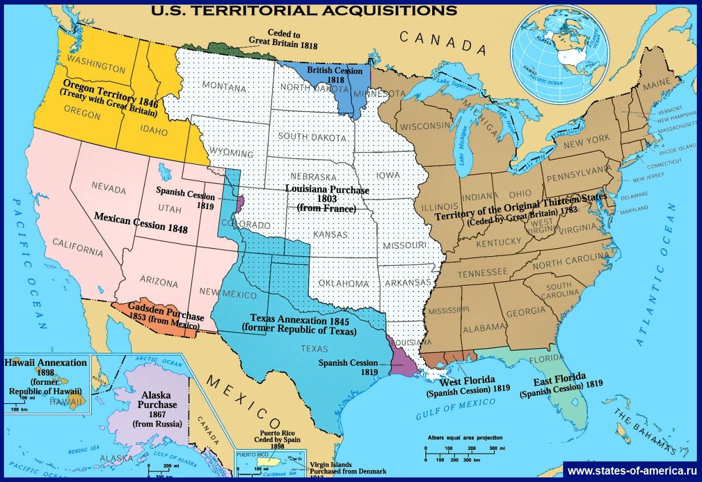 Карта присоединения территорий к