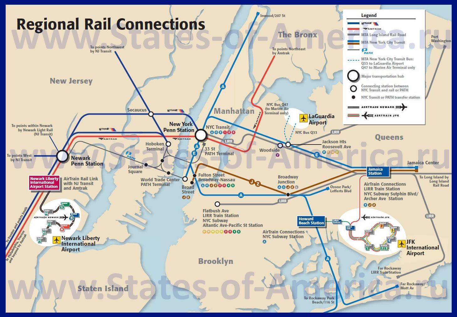 схема метро нью-йорку