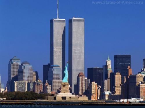 Башни-близнецы в Нью-Йорке