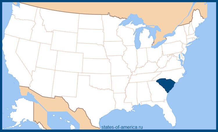 Штат южная каролина на карте сша