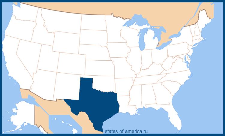 Штат техас на карте сша